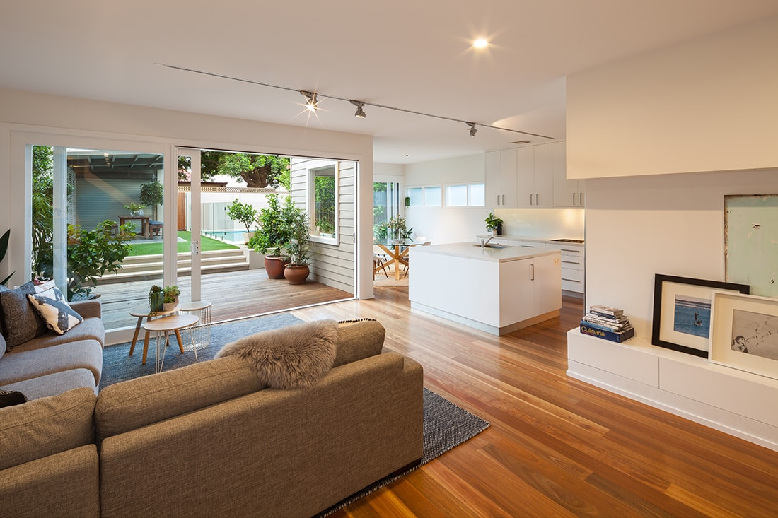 Stunning open plan living designed by Norrsken Ko.