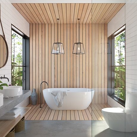 Dream luxury spa bathroom designed by Norrsken Ko.